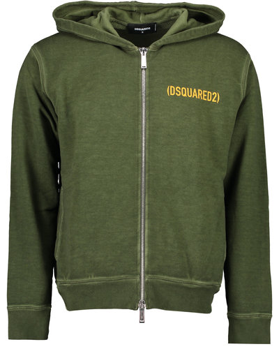 Dsquared2 Best Fade Dyed Cool Fit Hoodie Army Green
