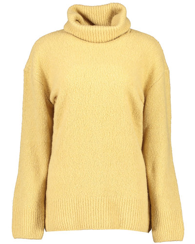 Kenzo Wool Recycled Cashmere Turtle Jumper Beige