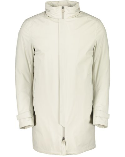 Herno Laminar Padded-shell Coat Offwhite