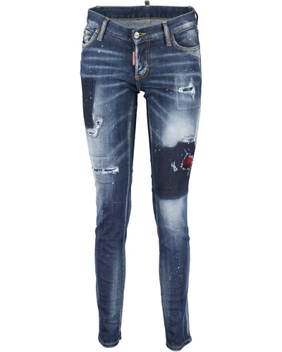 Dsquared2 Jennifer Destroyed Jeans Blauw