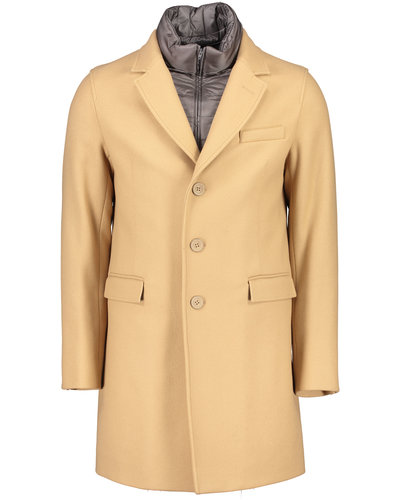 Herno Hybrid Single Breasted Coat Camel