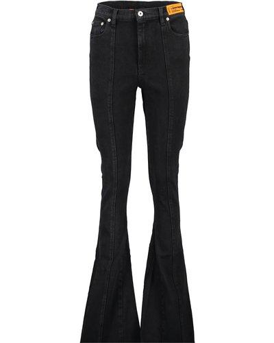 Heron Preston Flared Jeans Vintage Zwart