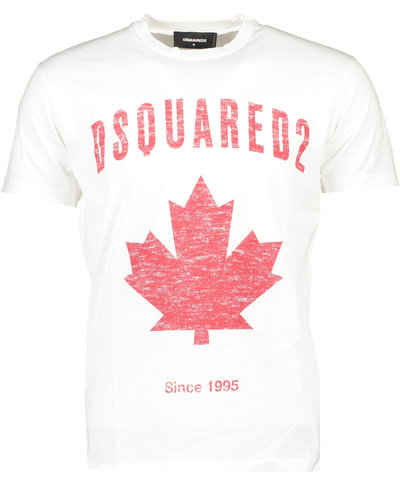Dsquared2 Maple Leaf T-shirt White