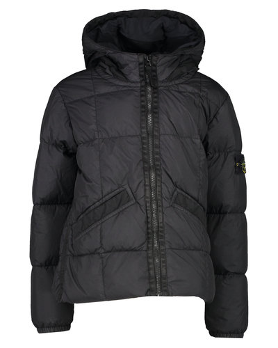 Stone Island Junior 40333 Crinkle Down Jacket Zwart