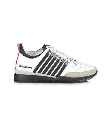 Dsquared2 251 Lace Up Low Top Sneakers Wit/Zwart