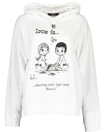 Dsquared2 Love is Hoodie White