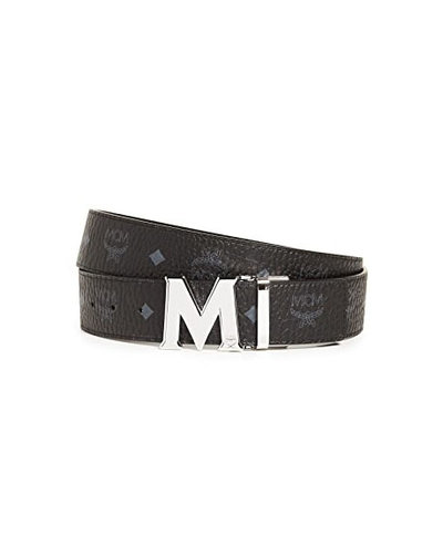 MCM Worldwide Claus Reversible Belt Black