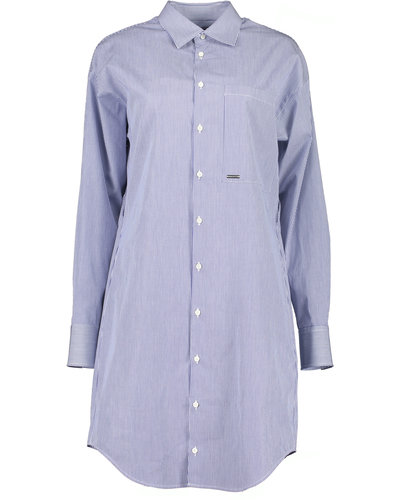 Dsquared2 Shirt Dress Blauw/Wit