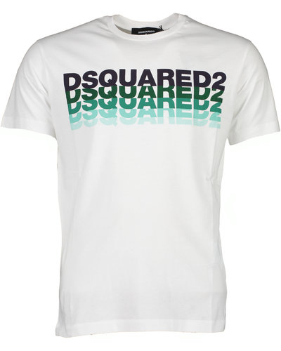 Dsquared2 Graphic Logo T-Shirt  Wit