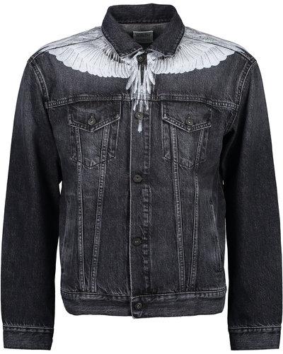 Marcelo Burlon Wings Denim Jacket Schwarz / Weiß