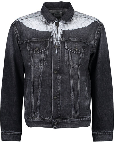 Marcelo Burlon Wings Denim Jacket Zwart / Wit