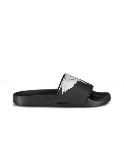 Marcelo Burlon Wings Slider Zwart / Wit