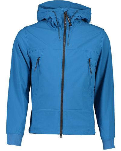 C.P. Company Shell Concealed Goggle Jacket Blauw