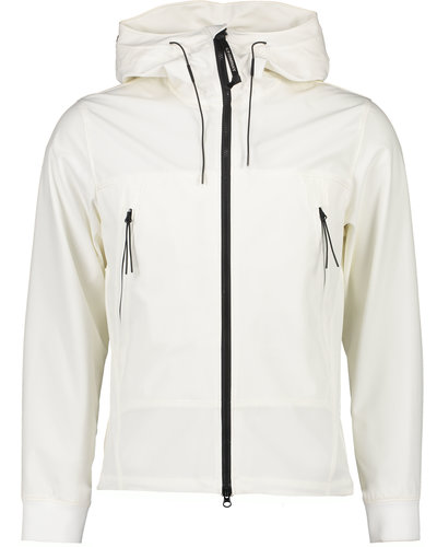 C.P. Company Shell Concealed Goggle Jacket Offwhite