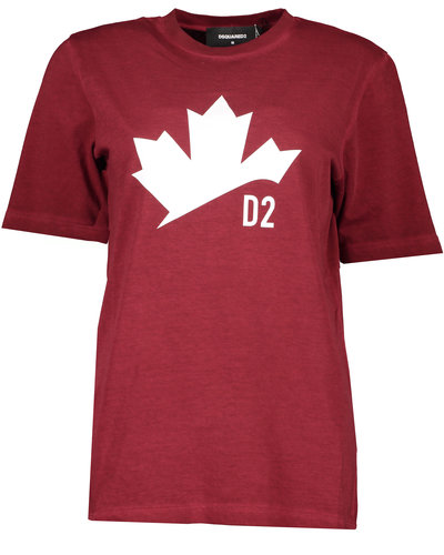 Dsquared2 Maple Leaf T-shirt Red
