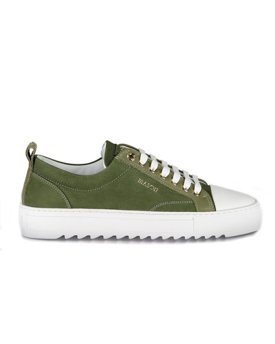Mason Garments Astro Nubuck Leather Sneakers Legergroen