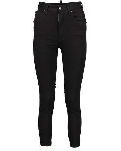 Dsquared2 High Waist Cropped Twiggy Jeans Zwart