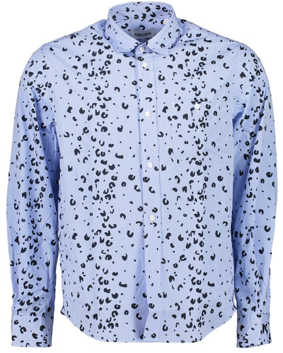 Kenzo Overprinted Casual Shirt Blauw