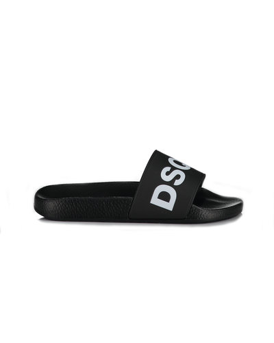 Dsquared2 Logo Pool Slider Zwart