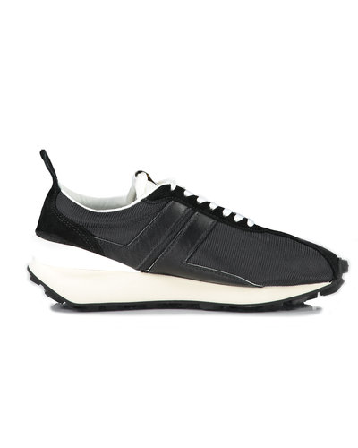 Lanvin Paris Mesh Running Sneakers Zwart
