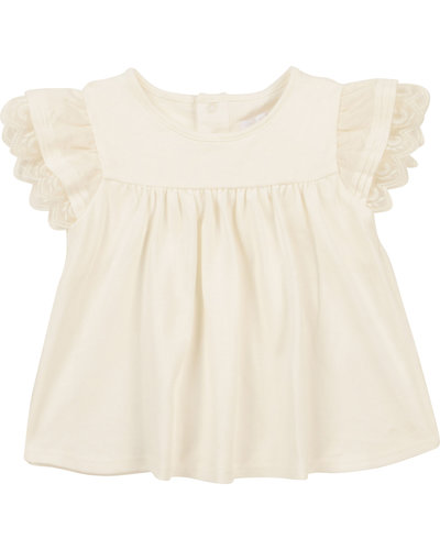 Chloé Kids Lace Top Offwhite