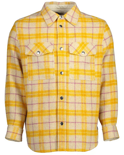 Isabel Marant Checked Overshirt Yellow / White