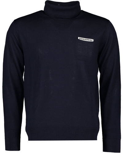 Dsquared2 Pocket Logo Pullover  Marine
