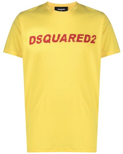 Dsquared2 T-shirt Geel
