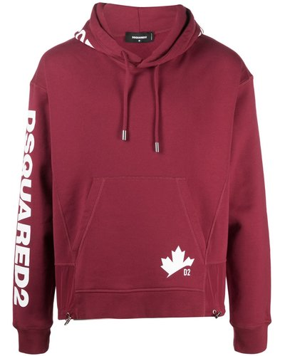 Dsquared2 D2 Leaf Hoodie Red