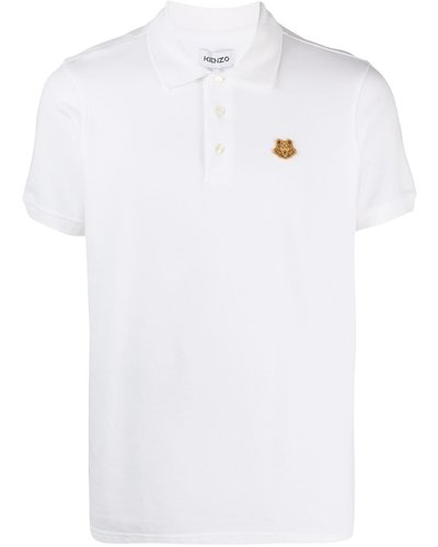 Kenzo Small Logo Tiger Crest Polo Wit