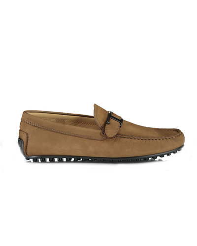 TOD'S Laterale City Moccasins Bruin