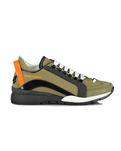 Dsquared2 551 Lace Up Low Top Sneaker Army Green