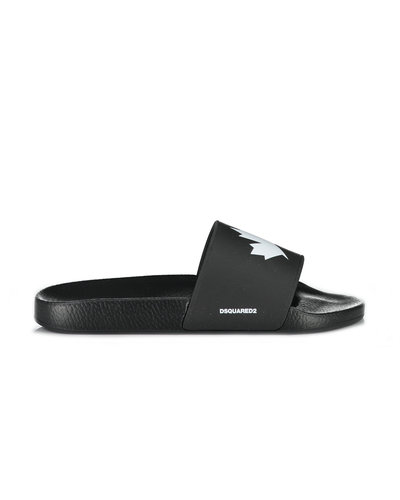 Dsquared2 Leaf Pool Slider Zwart