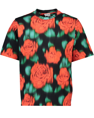 Kenzo Faded Print T-shirt Red