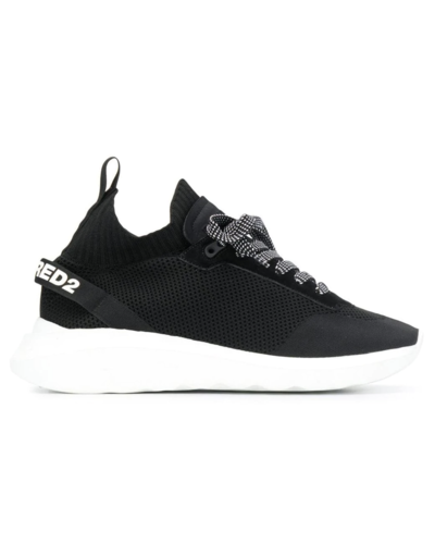 Dsquared2 Laced-Up Speedster Sneaker Black/White