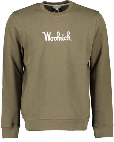 Woolrich Crew Essential Sweater Army Green