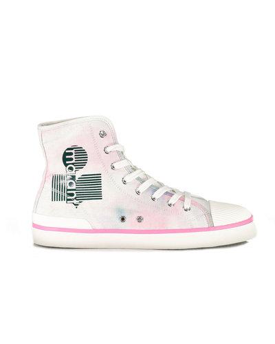Isabel Marant Benkeenh  Logo Sneaker Wit/Roze