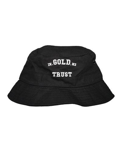 In Gold We Trust The Bucket Hat Zwart