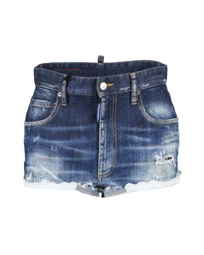 Dsquared2 Hot Pants Blau