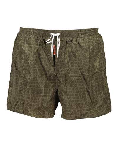Dsquared2 All Over Logo Swim Shorts Army