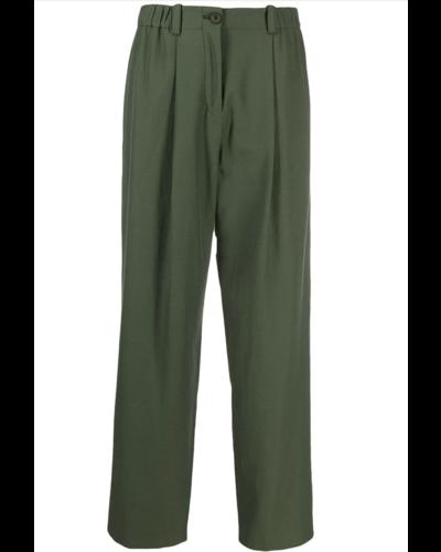 Kenzo Cropped Pantalon Armee Grün