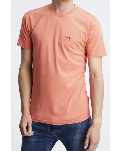 Denham Applique MOJ T-shirt Rood