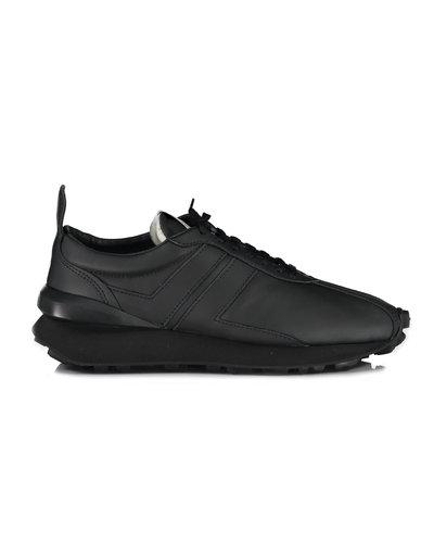 Lanvin Paris Nappa Leather Bumpr Sneakers Zwart