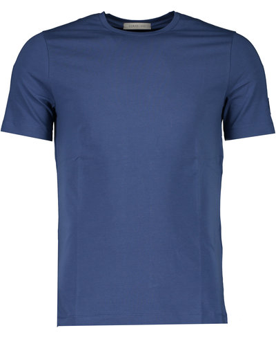 Corneliani Arm Patch T-shirt Blauw