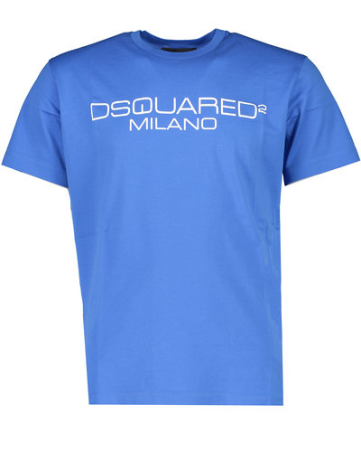 Dsquared2 Milano Logo  T-shirt Blue