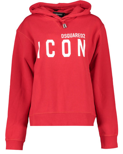 Dsquared2 Cool Fit Icon Hoodie Rood/Wit