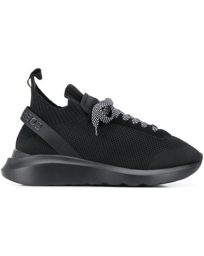 Dsquared2 Laced-Up Speedster Sneaker Zwart/Zwart
