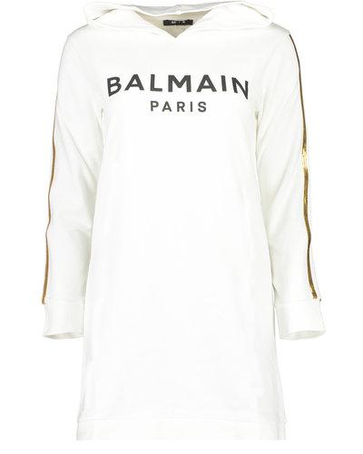 Balmain Kids Logo Dress Weiß