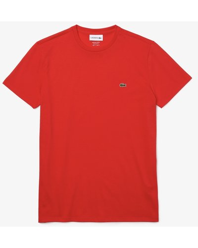 Lacoste Round Neck T-shirt Rood