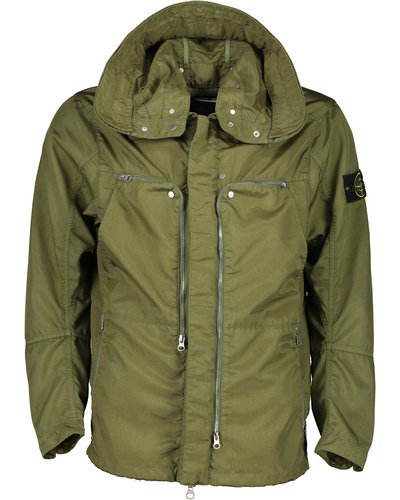 Shadow Project Stone Island 41002 Hollowcore Polly Light Jacket Olive